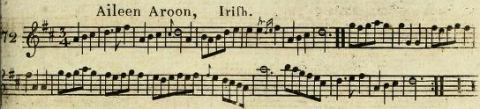 18. From: James Aird, A Selection Of Scotch, English, Irish and Foreign Airs. Adapted for the Fife, Violin or German Flute, Vol. 5 & 6, Glasgow 1801 (first published ca. 1797), No. 72  p. 29