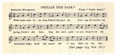 "15. Robert Burns, ""Phillis The Fair"", from The Complete Works of Robert Burns (Self-Interpreting), Vol. 5, New York 1909, p. 202,"