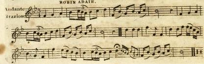 27. Robin Adair, from: Edinburgh Repository Of Music; Containing the most Select English, Scottish & Irish Airs, Reels, Strathspeys &c, Arranged For The German Flute Or Violin, Vol. 1, Edinburgh ca. 1818, p. 70