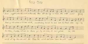 "20. The melody of ""Mary Of The Wild Moor"" as recorded by Ch. Dietz in Wisconsin 1956 (c/o Wisconsin Folk Song Collection)"