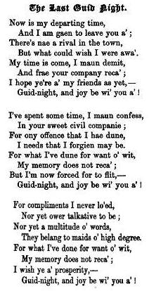 8.  From: Peter Buchan, Ancient Ballads And Songs Of The North Of Scotland, Vol. 2, Edinburgh 1828, reprint 1875, p. 121/2