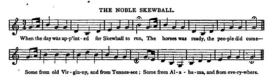 "22. ""Noble Skewball"", from: John Mason Brown, Songs Of The Slaves, in: Lippincott's Magazine of Literature, Science and Education, Vol.2, December 1868, p. 622"