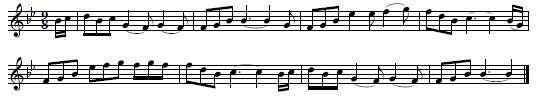 "14. ""The Blackthorn Cane With A Thong"", melody line only, as sung by Biddy Monahan, Rathcarrick, Sligo, Ireland, collected by George Petrie, 1837, published in The Petrie Collection of the Ancient Music of Ireland. Arranged for Piano-forte, Vol 1, Dublin 1855, p. 37"