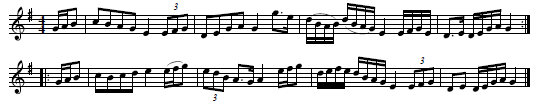 "5. ""Robbi G�rach"", in: A Collection of the best Highland Reels written by David Young, NLS Ms. 2085, No. 121, p. 89, available in: Early Music Pt. 2, Reel 5"