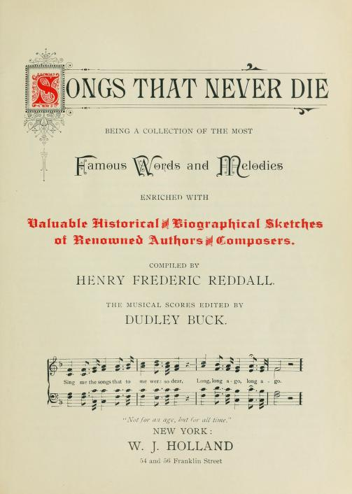 16. Songs That Never Die, 1894